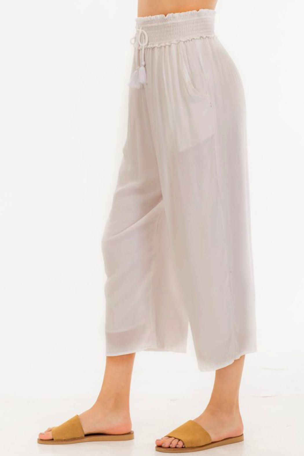 ALB Anchorage Smocked Summer Pants - Side Cropped Image