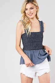 Do & Be Smocked Tank Top - Product Mini Image