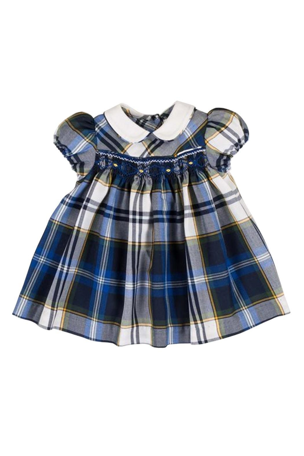 Malvi & Co. Smocked Tartan Dress. - Main Image