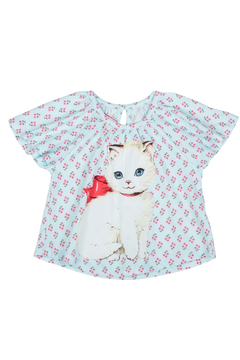 Shoptiques Product: Smocked Tee Shirt Reto Kitten