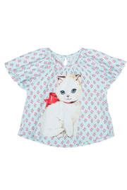 Paper Wings Smocked Tee Shirt Reto Kitten - Product Mini Image
