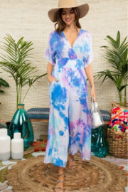 R+D emporium  Smocked Tie Dye Jumpsuit - Product Mini Image