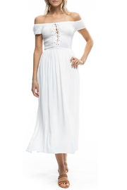 Anama Smocked Tie Front Empire Lined Maxi - Product Mini Image