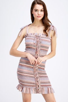 Shoptiques Product: Smocked Tie-Up Dress