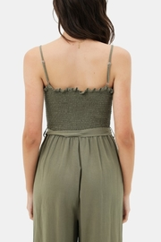 Love Tree  Smocked Top Jumpsuit - Side cropped