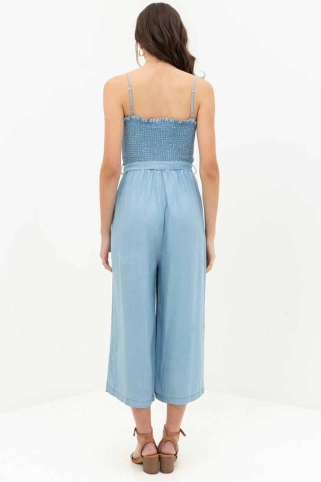 Love Tree  Smocked Top Jumpsuit - Side Cropped Image