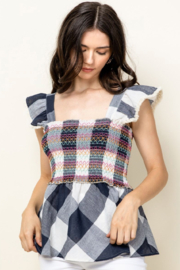 Thml Smocked Top with Ruffle Sleeves - Product Mini Image