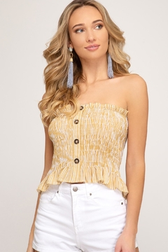 4d466cc8303c1 ... She + Sky Smocked Tube Top - Product List Placeholder Image
