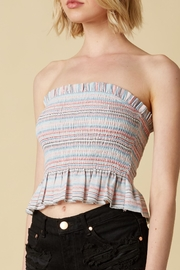 Cotton Candy Smocked Tube Top - Front cropped