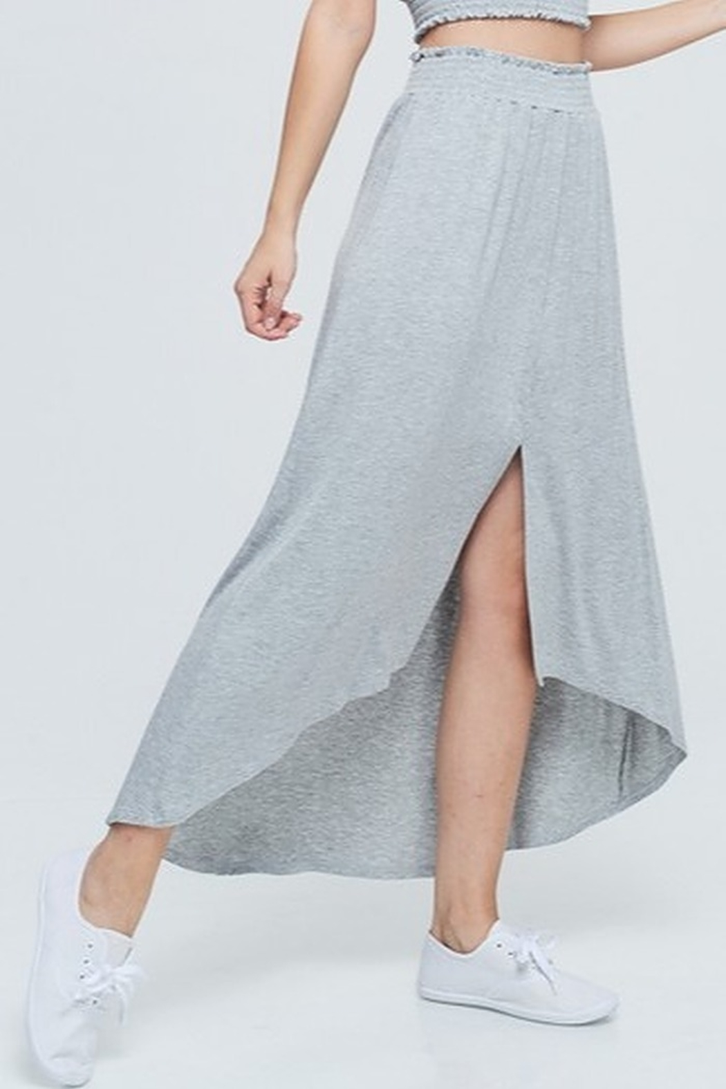 Papermoon Smocked Waist Skirt - Side Cropped Image