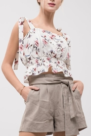 J.O.A. Smocked-Waist Tie-Shoulder Tank - Product Mini Image