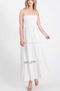 Lyn -Maree's Smocked White Dress - Product List Image