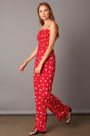 Cotton Candy Smocked Wide-Leg Jumpsuit - Product Mini Image