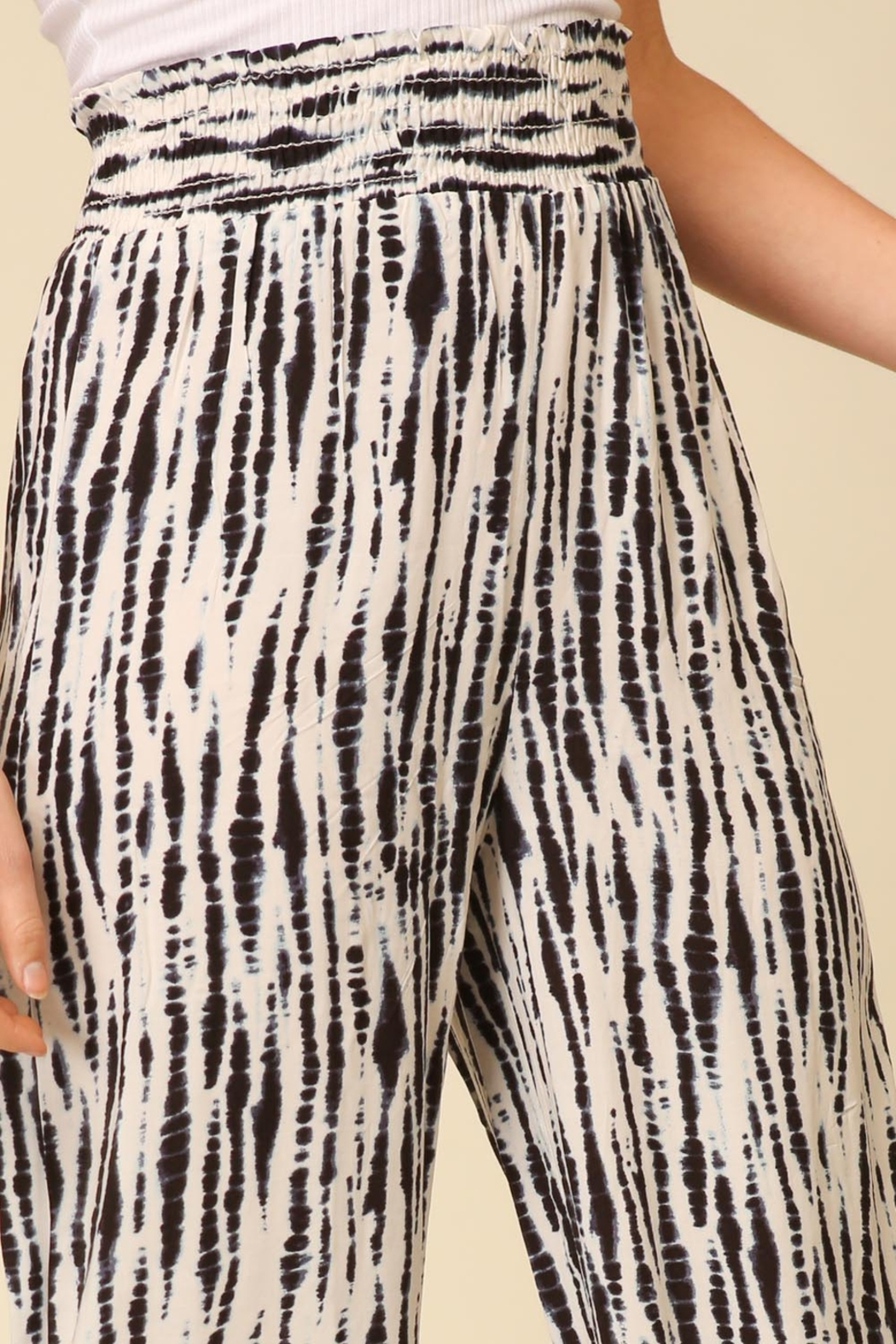 Lyn -Maree's Smocked, Wide Leg Pants - Front Full Image