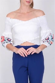 Lulumari Smocking Crop Top - Product Mini Image