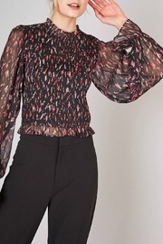 Do & Be Smocking print top - Front cropped