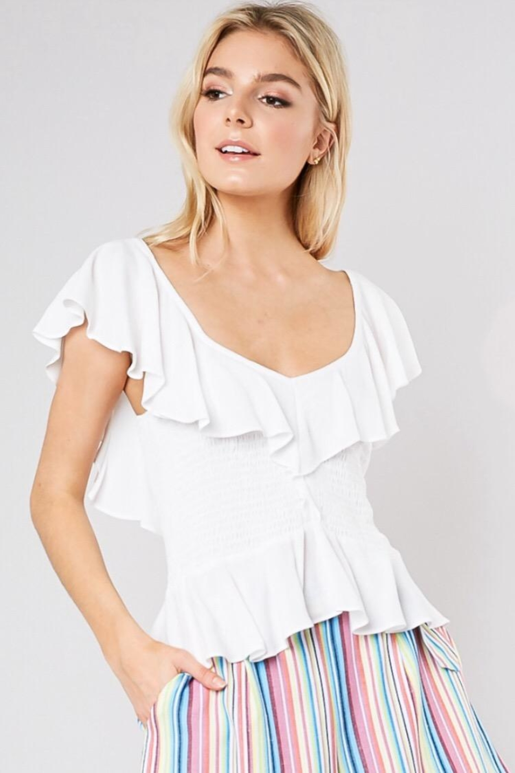 Do & Be Smocking Waist Top - Main Image