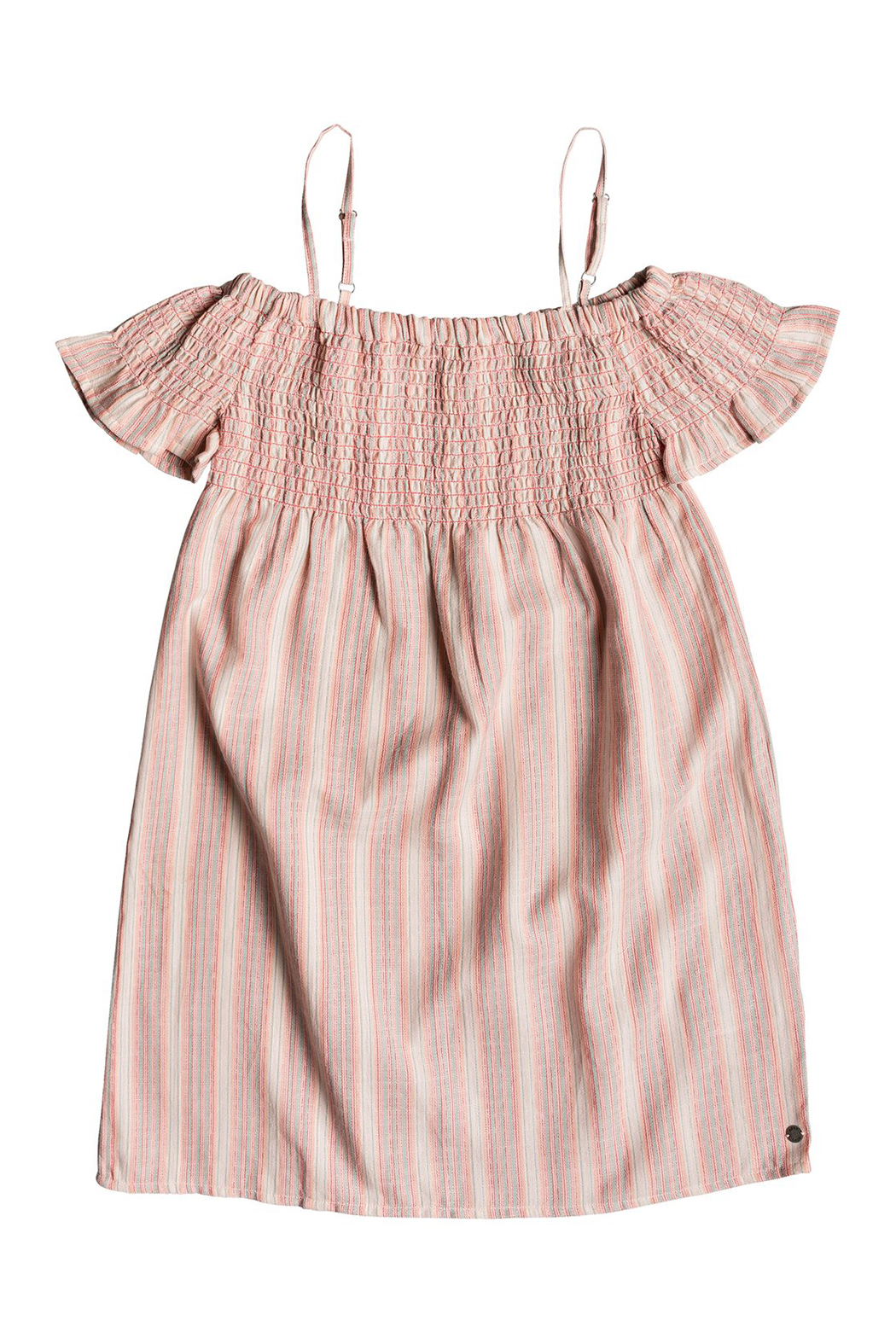 Roxy Smocky Sun Off-The-Shoulder Dress - Front Cropped Image