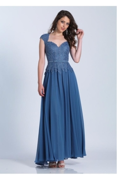 Dave and Johnny Smoke Blue Dress - Product List Image