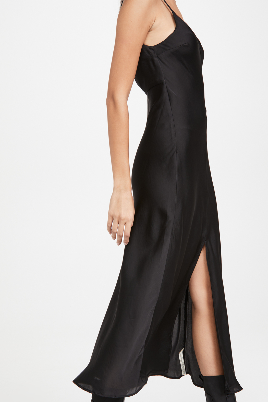 Free People  Smoke & Mirrors Maxi Slip - Front Cropped Image