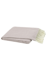 The Birds Nest SMOKEY MAUVE ITALIAN HERRINGBONE THROW - Product Mini Image