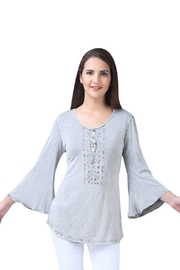 Parsley & Sage Smoky Bell-Sleeve Blouse - Product Mini Image