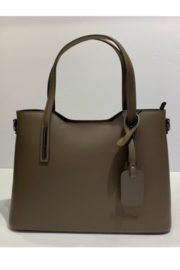 Giuliano Smooth Italian Leather Larger Handbag - Product Mini Image