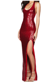 Nookie Smoulder Gown - Front full body