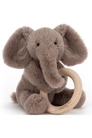 Jellycat  Smudge Elephant Wooden Ring Toy - Product Mini Image