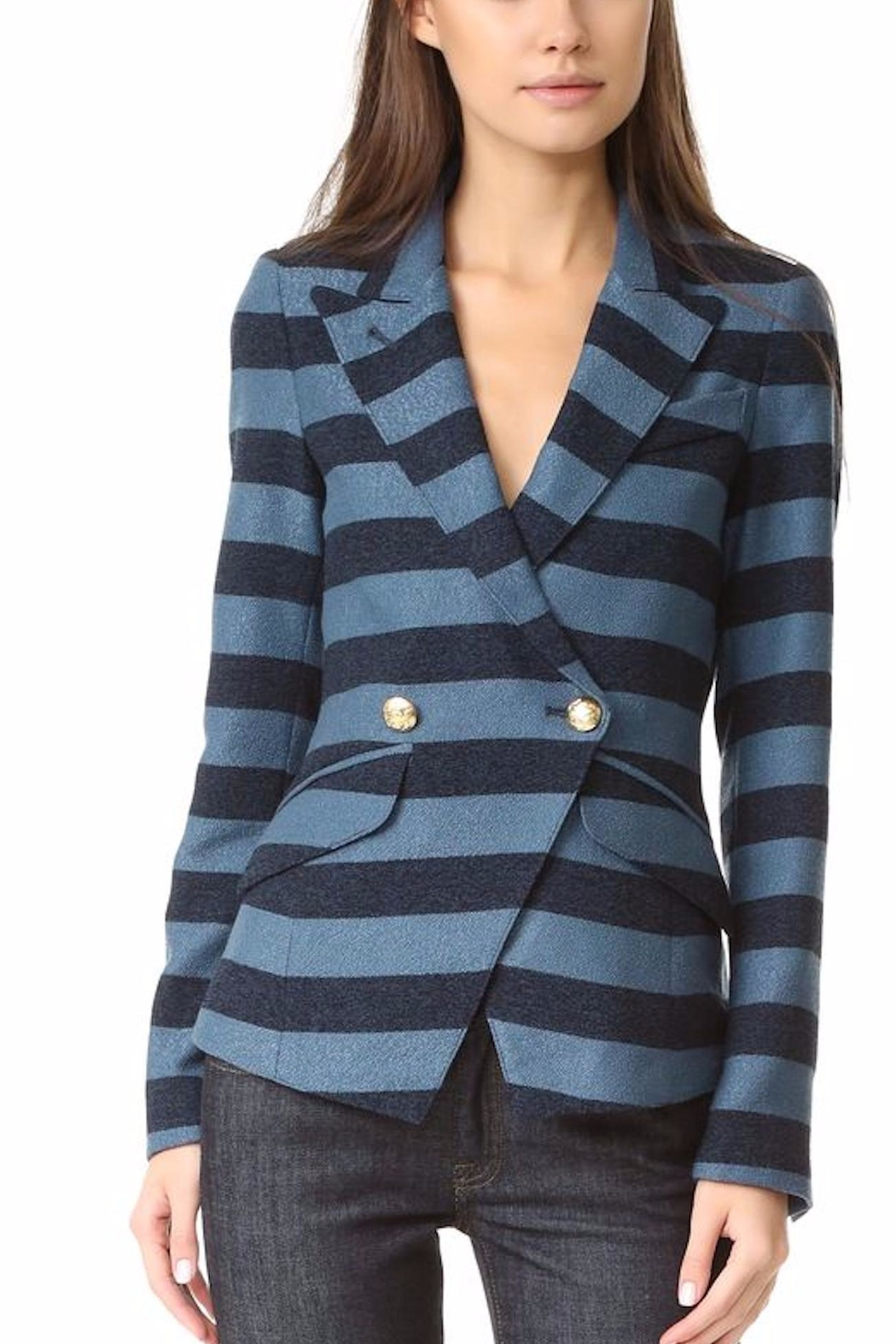 Smythe Blue Striped Blazer - Main Image