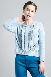 Smythe Handknit Ruffle Sweater - Product Mini Image