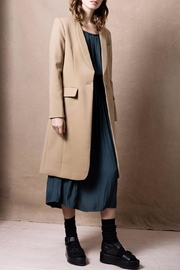 Smythe Skinny Lapel Coat - Product Mini Image