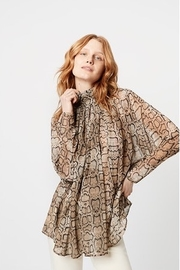 Smythe Turtleneck Drape Blouse - Product Mini Image