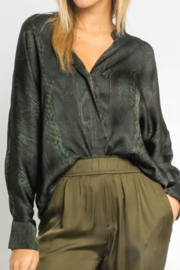 Olivaceous  Snake Blouse - Front cropped