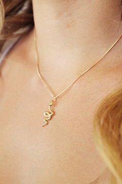Joy Dravecky Snake Charm Necklace - Alternate List Image