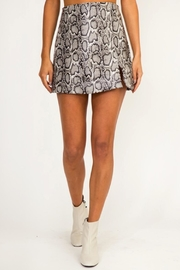 Olivaceous Snake Faux-Leather Skirt - Product Mini Image
