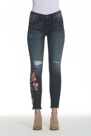 Driftwood Snake Floral Embroidered Jackie Jean - Product Mini Image
