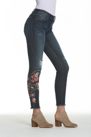 Driftwood Snake Floral Embroidered Jackie Jean - Front full body