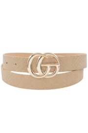 Ana Accessories Snake GG Belt - Front cropped