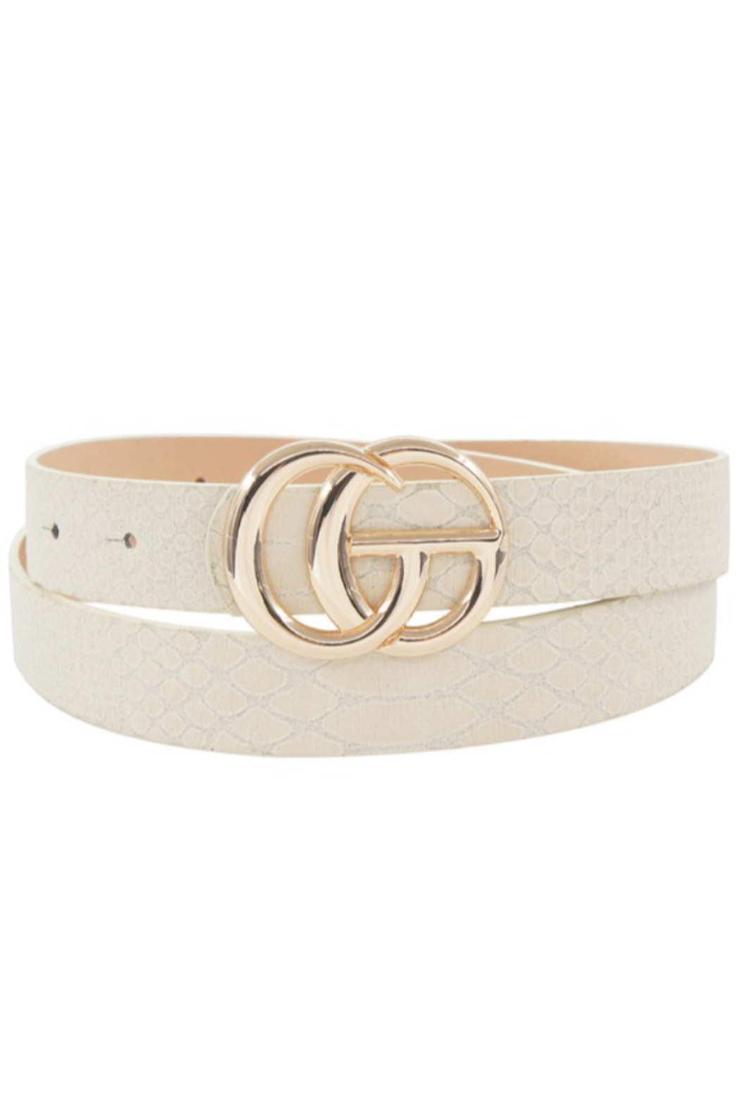 Ana Accessories Snake GG Belt - Front Cropped Image