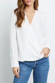 Rails Clothing Snake Jacquard Wrap Blouse - Front cropped