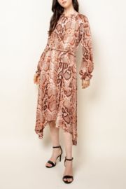 Thml Snake Long Sleeve Dress - Product Mini Image