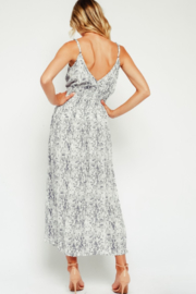 Olivaceous Snake Maxi Dress - Side cropped