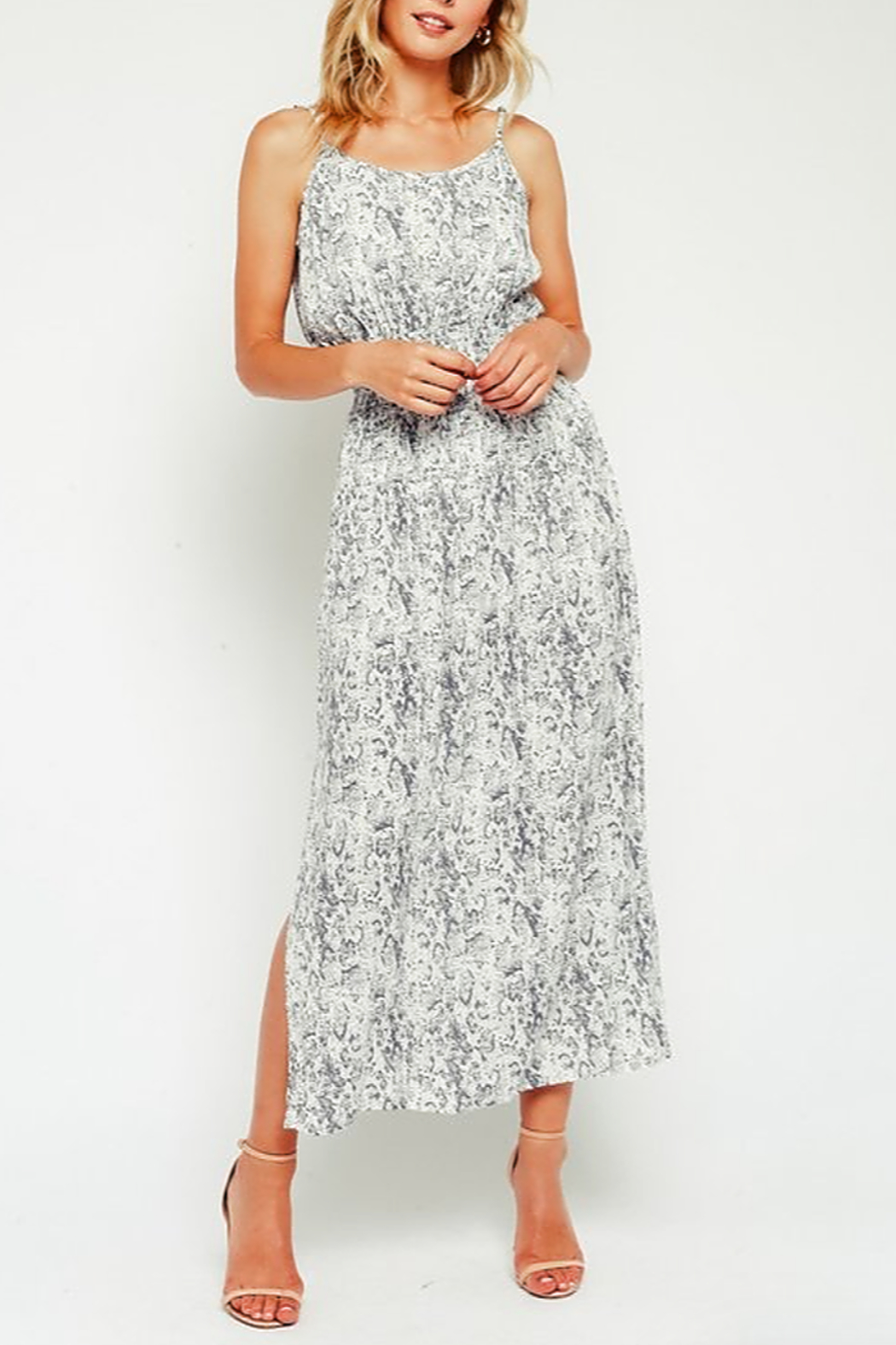 Olivaceous Snake Maxi Dress - Front Cropped Image