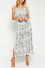 Olivaceous Snake Maxi Dress - Front cropped