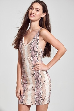 blue blush Snake Mini Dress - Product List Image