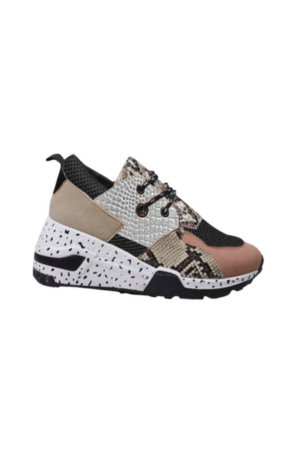 R+D emporium  Snake Multi Sneaker - Front Cropped Image