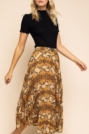 Gilli  Snake Pleated Midi Skirt - Product Mini Image
