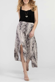 Tribal Snake Print Asymmetrical Skirt - Product Mini Image