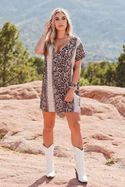Buddy Love Snake Print Baker Dress - Product Mini Image